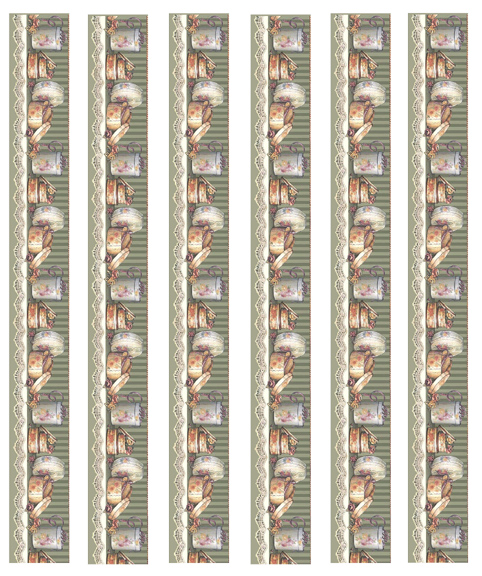 Borders dollhouse wallpaper 02