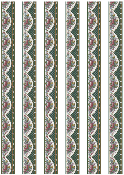 Borders dollhouse wallpaper 03