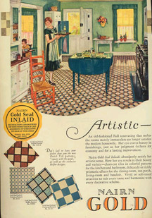 vintage flooring advert