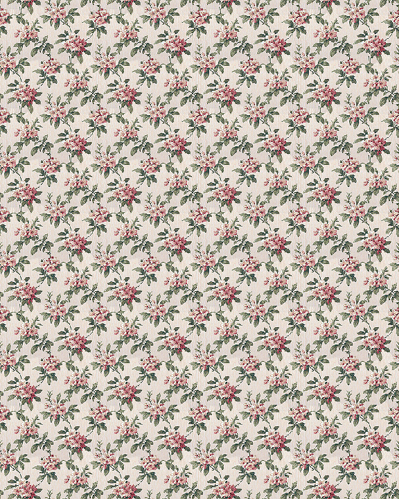 Printable dollhouse wallpaper floral 025