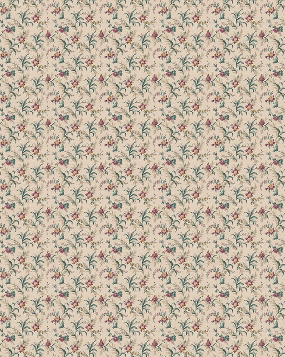 Printable dollhouse wallpaper floral 028